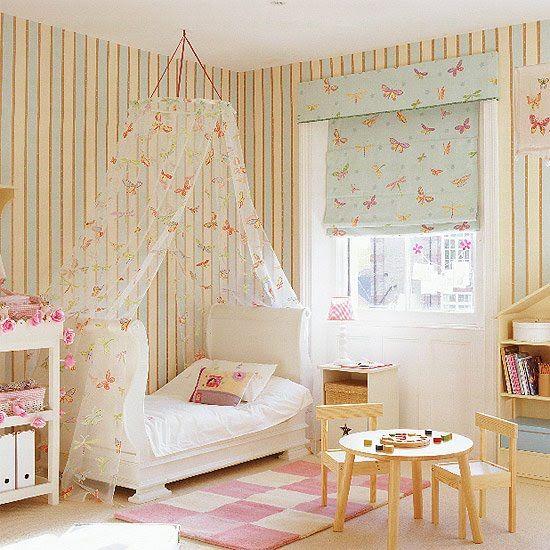 Combinacion ideal de cortinas y dosel dormitorios infantiles ideas pinterest - Estores para bebes ...