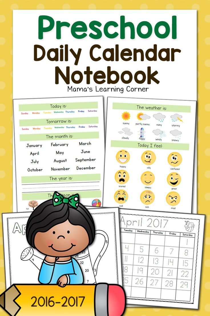 This Preschool Calendar Notebook is packed with daily tasks for your Pre-Ker: weather, number recognition, day/week/month recognition, name writing & more! $