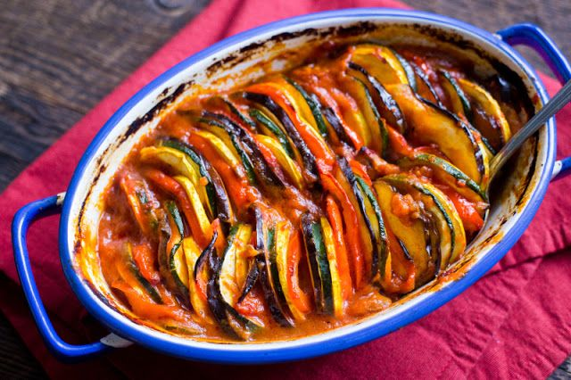 http://ift.tt/2keOErs  Ratatouille is a Provençal vegetable stew first originating in the city of Nice (near the Southeast tip of France). Its base ingredients namely tomatoes and eggplant are indicative of its Mediterranean influence; there are similar dishes in other countries that border the Mediterranean like Pisto (Spain) Camponata (Sicily) and Briám (Greece).  Ingredients  1tablespoonolive oil1/2tablespoonsbutter(ghee okay)4ounceswhite mushrooms(sliced)1teaspoonbalsamic…