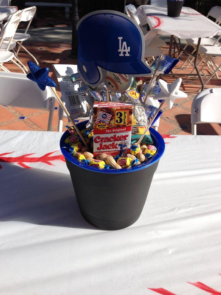 Dodger Party Centerpieces Dodgers Party Baseball Theme