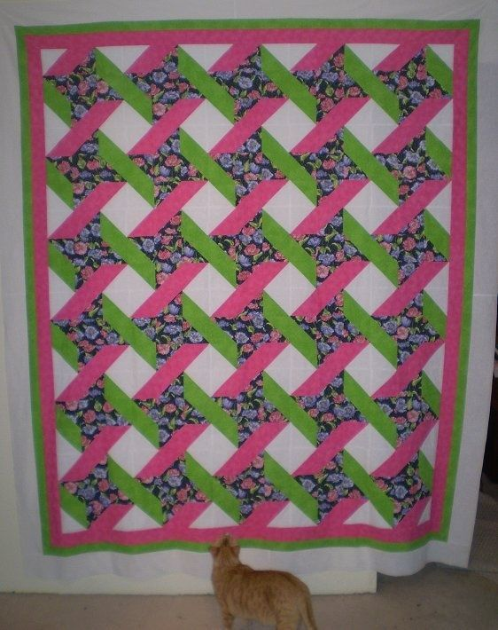 Quilt Pattern Using Focus Fabric : 25 best quilts - friendship star and ribbon images on Pinterest Patterns, Baby quilts and Crafts