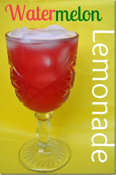 Watermelon Lemonade   Yummies   Pinterest