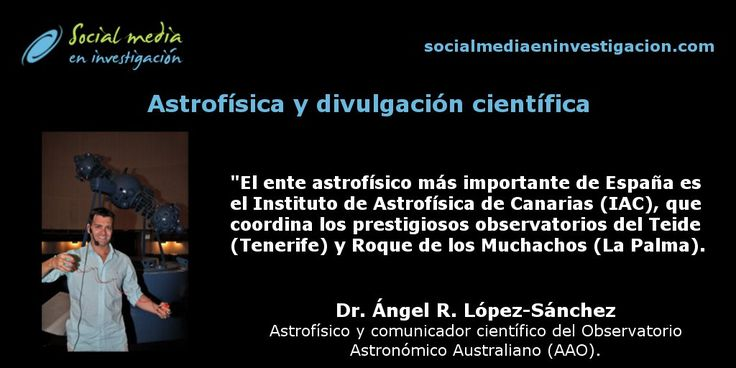 Charla sobre astrofísica y divulgación científica con Ángel López Sánchez. #Astrofísica #DivulgaciónCientífica