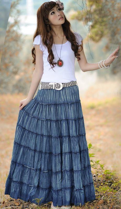 63 best Handmade: Long skirt / dress images on Pinterest