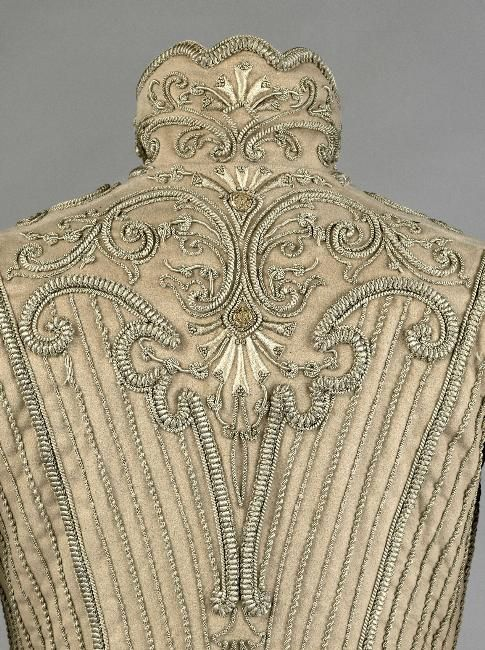 Bodice, wool and silk fabric, silver braid embroidery, 1902- 1907, Palais Galliera, musée de la Mode de la Ville de Paris