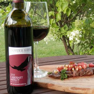 September 9, 2014 - Cooper's Hawk Vineyards 2008 Cabernet Merlot Reserve with Grilled Steak and Fresh Tomato Salsa. Extend summer! Keep the outdoor entertaining going with Cooper's Hawk Vineyard's Cabernet Merlot Reserve! This wine, steak and dusk...can't lose! - See more at: http://www.essexcountywineries.ca/wines/2014/20140907.htm#sthash.avg1iprm.dpuf