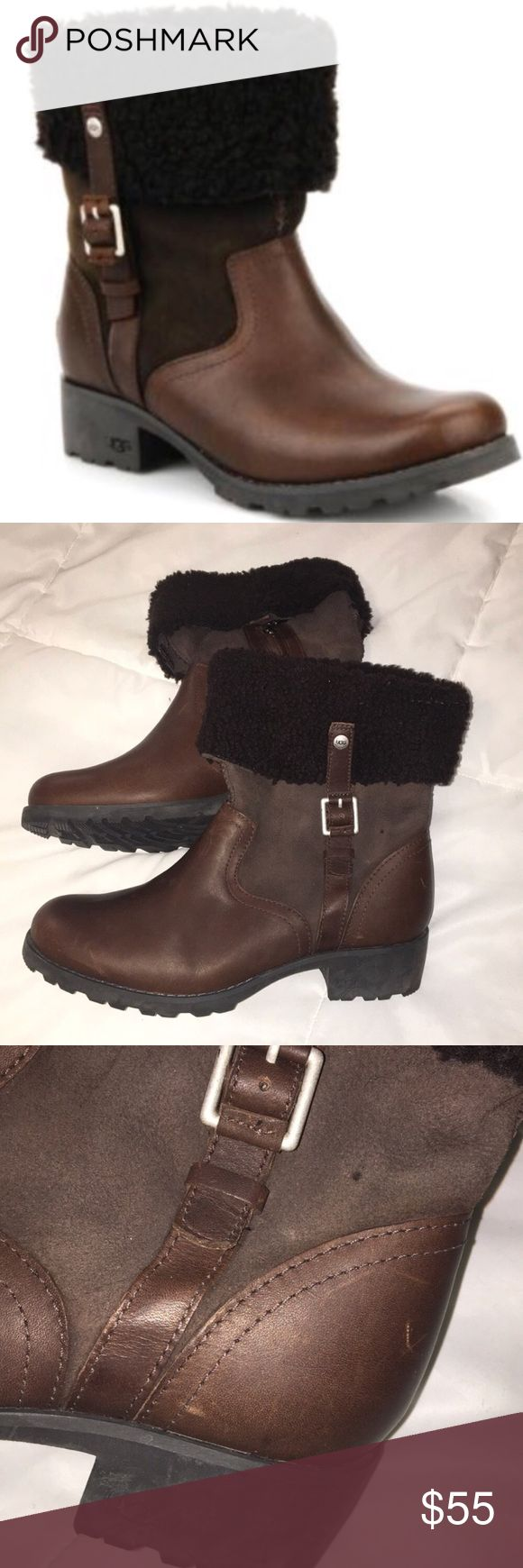 Ugg Bellvue Moro Boot Good Loved Condition. Has wear and scratches etc. price reflects this. Purchase for $238 + Tax at The Ugg Store UGG Shoes Winter & Rain Boots