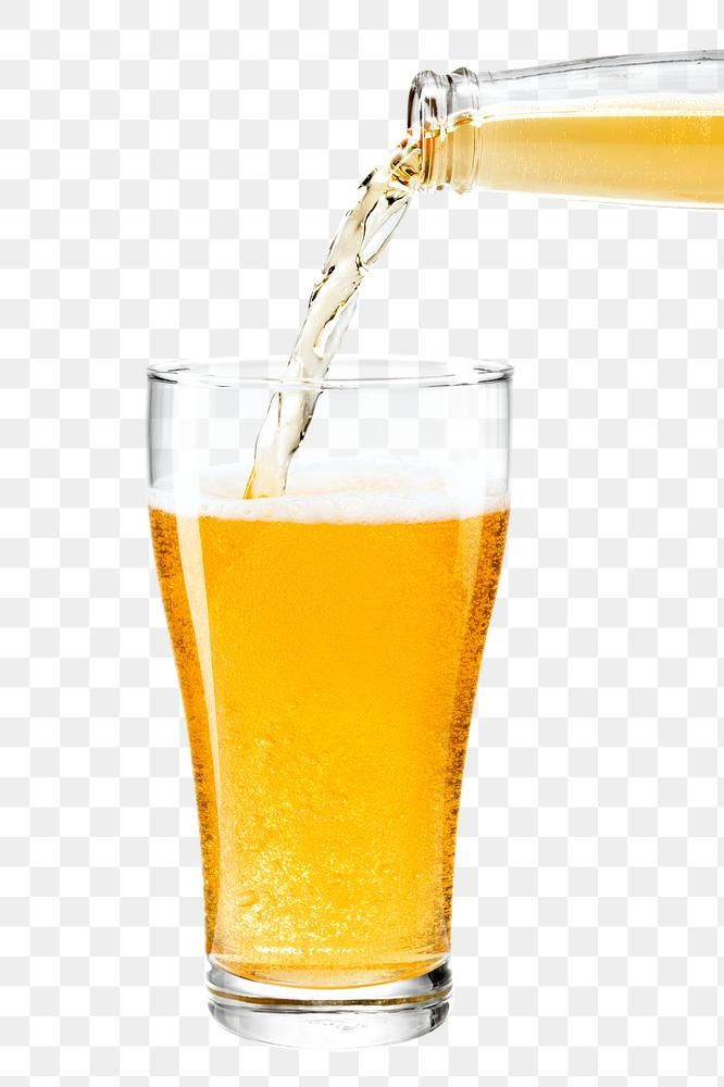 Beer Pouring Into A Pint Png From A Beer Bottle Free Image By Rawpixel Com Tong Beer Bottle Beer Pilsner Glass