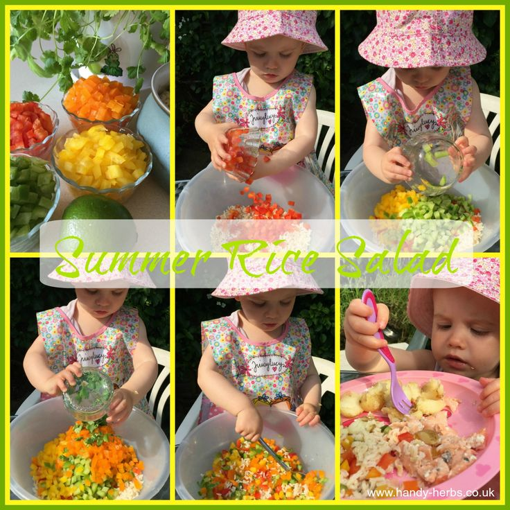 Summer Rice Salad is a healthy and tasty option to serve at a BBQ or as a side dish. It is easy for toddlers to help make and full of nutrients so healthy too!