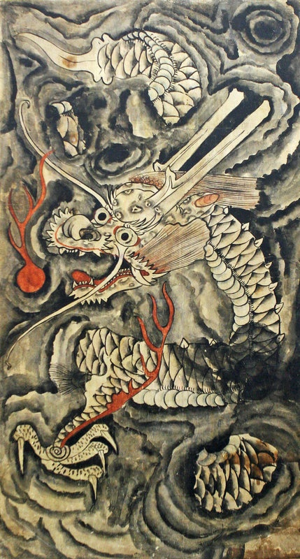 korean dragon painting