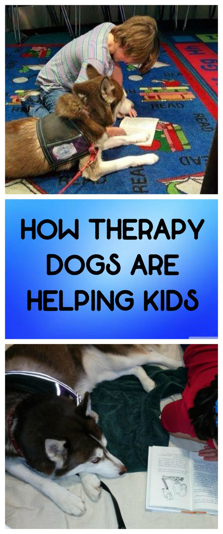 See how therapy dogs are helping kids.