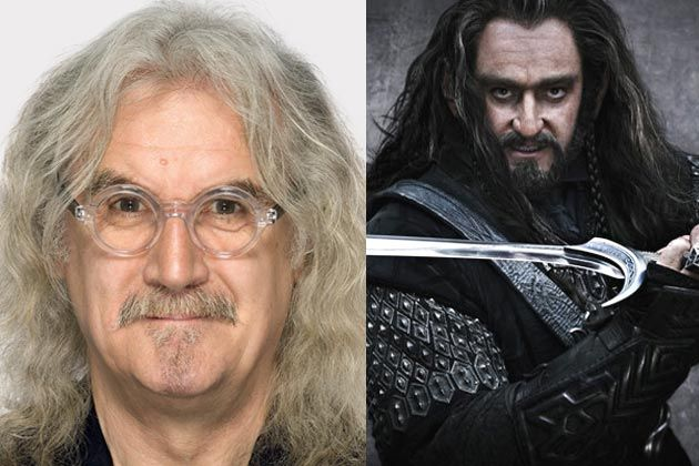 Billy Connolly cast as Dwarf lord Dain in the Hobbit (shown with Dwarf prince, Thorin)
