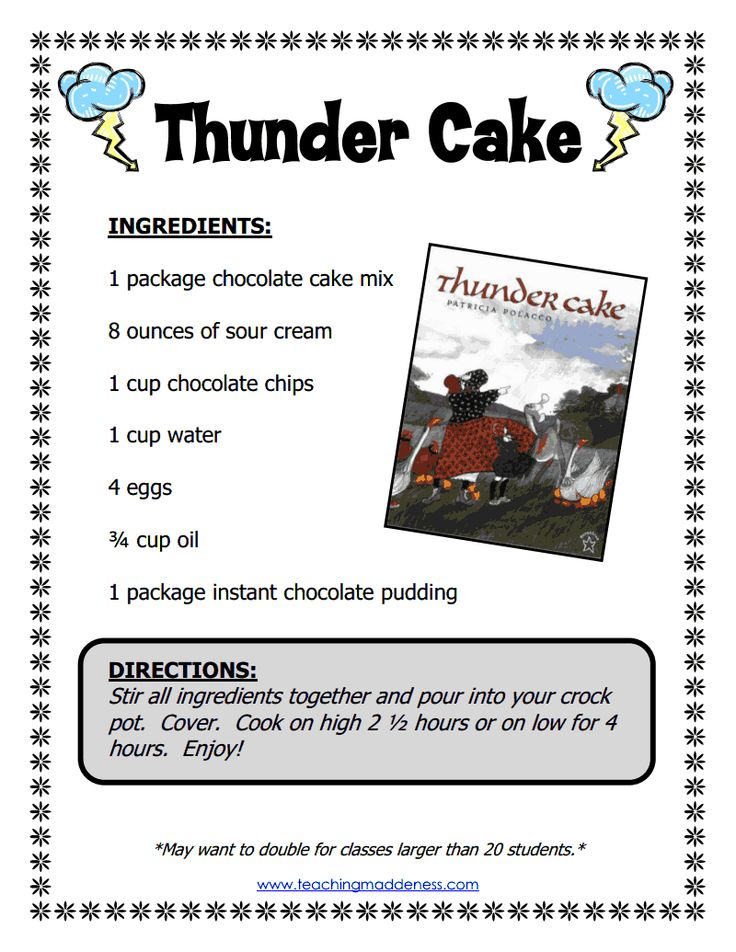 Vocabulary For Thunder Cake By Patricia Polacco