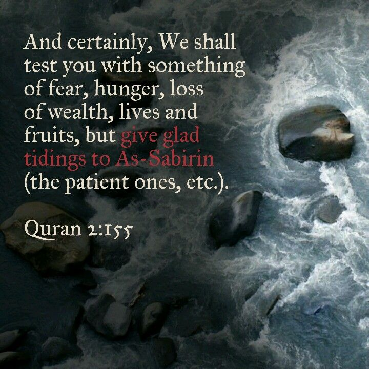 Give glad tidings to the patient ones