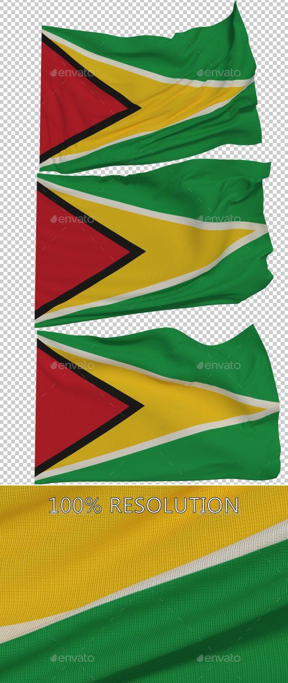 Flag of Guyana - 3 Variants