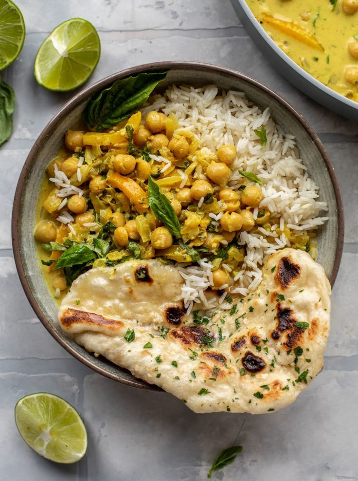 Basil Chickpea Curry - 20 Minute Basil Chickpea Coconut Curry Recipe