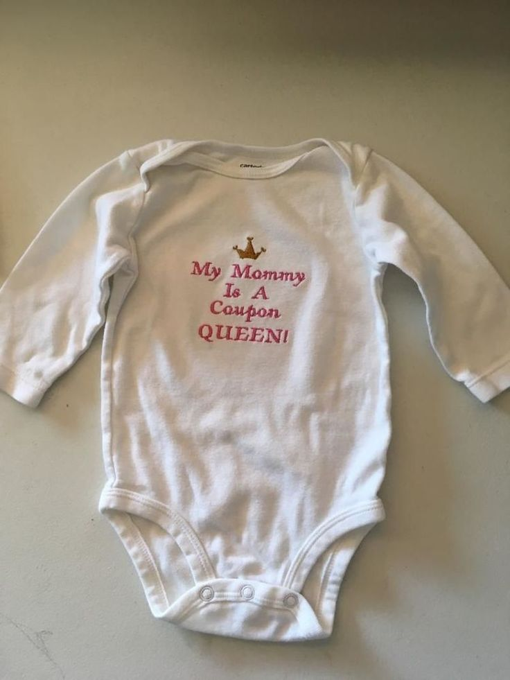 My Mommy is A Coupon QUEEN! Embroidered Onesie Personalized Keepsake    eBay