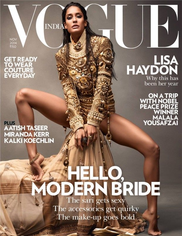 Vogue India November 2014 | Lisa Haydon