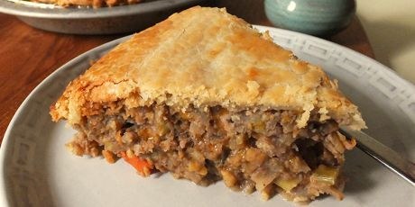 Leave the meat behind and whip up a warm and flavourful vegetarian tourtiere, packed with vegetables, cheese, herbs and spices.Courtesy of Alison Kent.