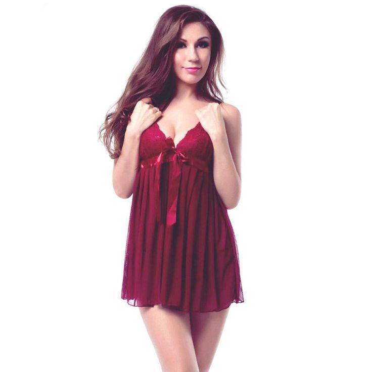 Cute Maroon Babydoll Nighty Set for women #womensfashion #sleepwear #shortnighty