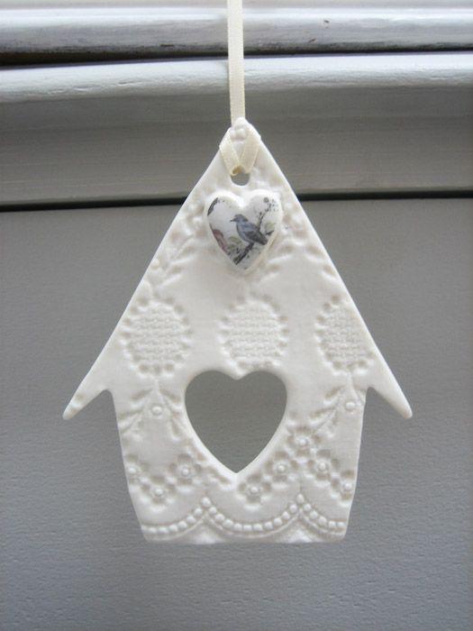 Bird house hanging decoration from Amanda Mercer