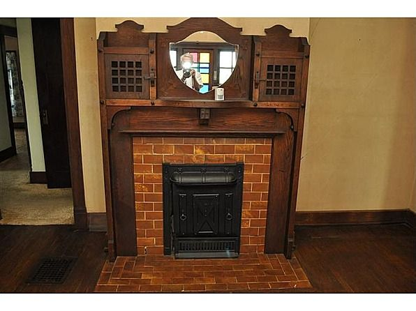 1000 images about house ideas for the inside on for Craftsman fireplace pictures