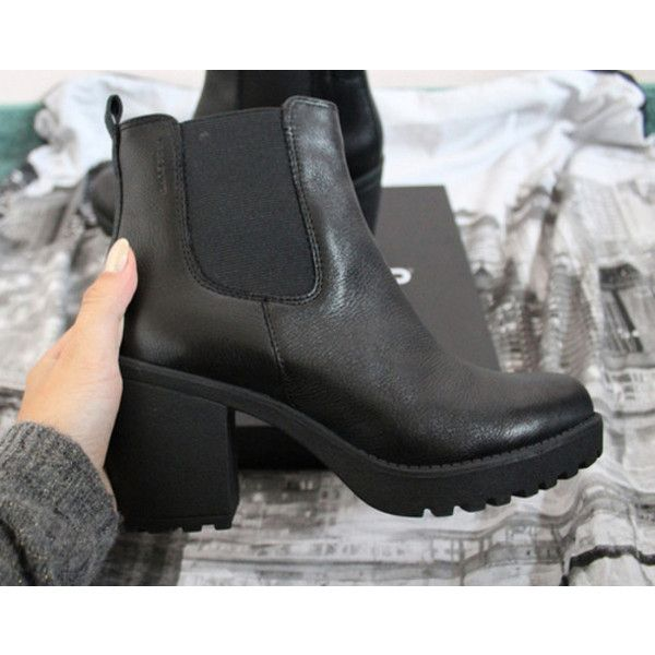 Shoes: black boots black flatforms shorts booties ankle boots heels... ❤ liked on Polyvore