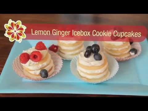 Lemon-Ginger Icebox Cookie Cupcakes - Betty Crocker's Red Hot Summer ...