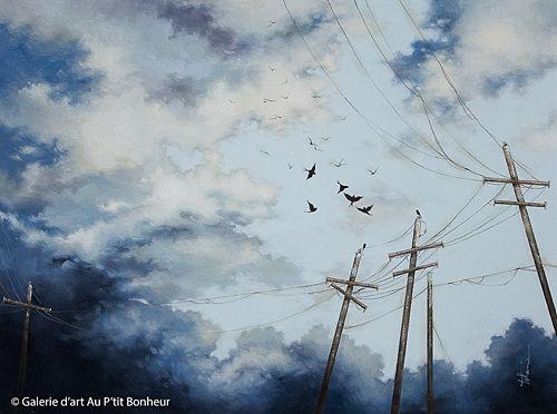 Tammy Shane, 'Break In The Clouds', 32'' x 43'' | Galerie d'art - Au P'tit Bonheur - Art Gallery
