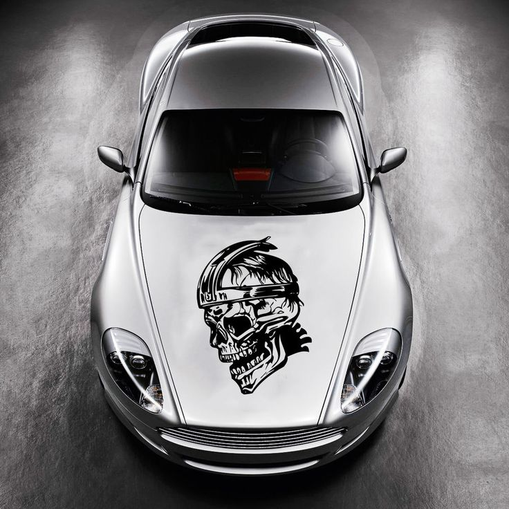 CAR HOOD VINYL STICKER DECALS GRAPHICS DESIGN ART SKULL WARRIOR - Custom vinyl decals for car hoodsfull color graphic vinyl sticker decal skull ghost fit car hood