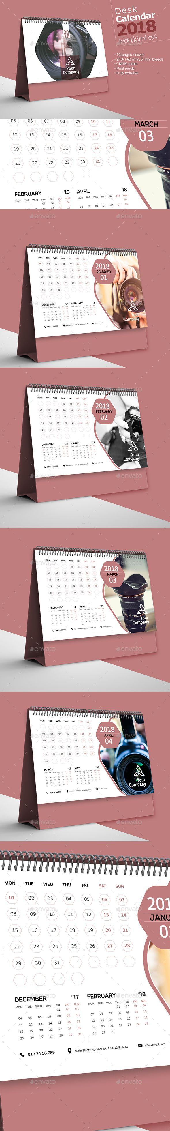 #Desk #Calendar 2018 - Calendars #Stationery