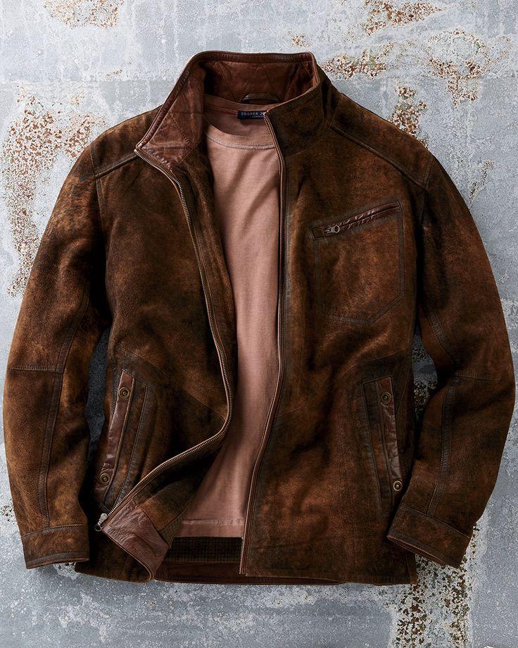 Durango Distressed Goat Suede Jacket