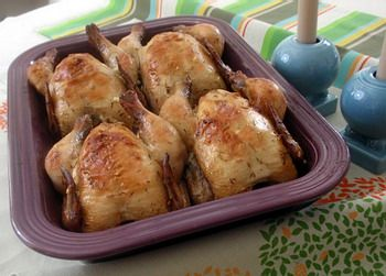 Baked cornish hens recipe from Grandma's Cookbook of kitchen-tested recipes.