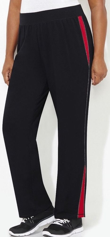 60fed262dcd Catherines Shimmer Shine Active Pants - Black - Size 2XWP (22 24WP) Petite. Stretch  PantsPlus Size WomenCatherine ...