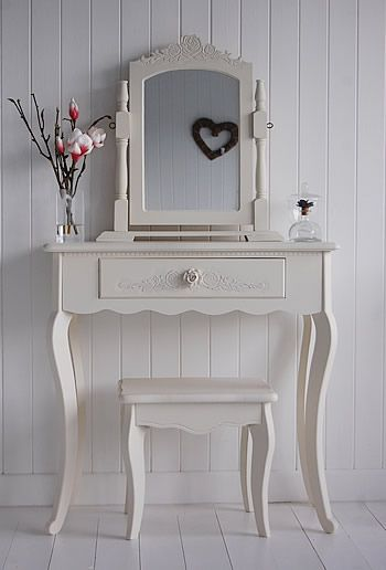 Cream Dressing Table - Peony Cream Bedroom Furniture ideal for french style bedrooms