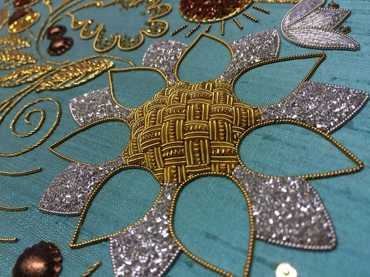 Advanced Goldwork by Diploma Graduate Susan Cameron, #RSNBristol on display at our Certificate & Diploma Summer Exhibition at Hampton Court Palace until 10 July. Royal School of Needlework.