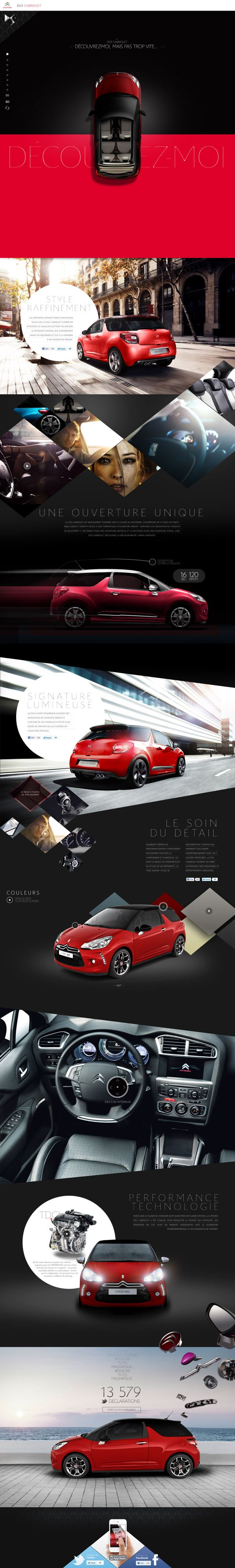 Citroen DS3 Cab by Sylvain Weiss, via Behance - powerful color palette great art direction | #it #web #design #layout #userinterface #website #webdesign <<< repinned by www.BlickeDeeler.de Follow us on www.facebook.com/BlickeDeeler
