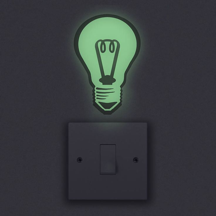 glow in the dark light bulb wall sticker by oakdene designs | notonthehighstreet.com