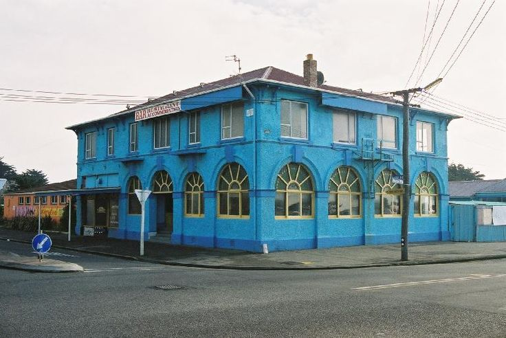 Old Ozone Hotel, 2 Bowhill Road, New Brighton, Christchurch, New Zealand. Demolished after the earthquake