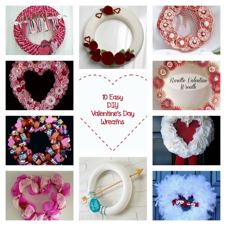 10 Easy DIY Valentines Day Wreaths #Crafts