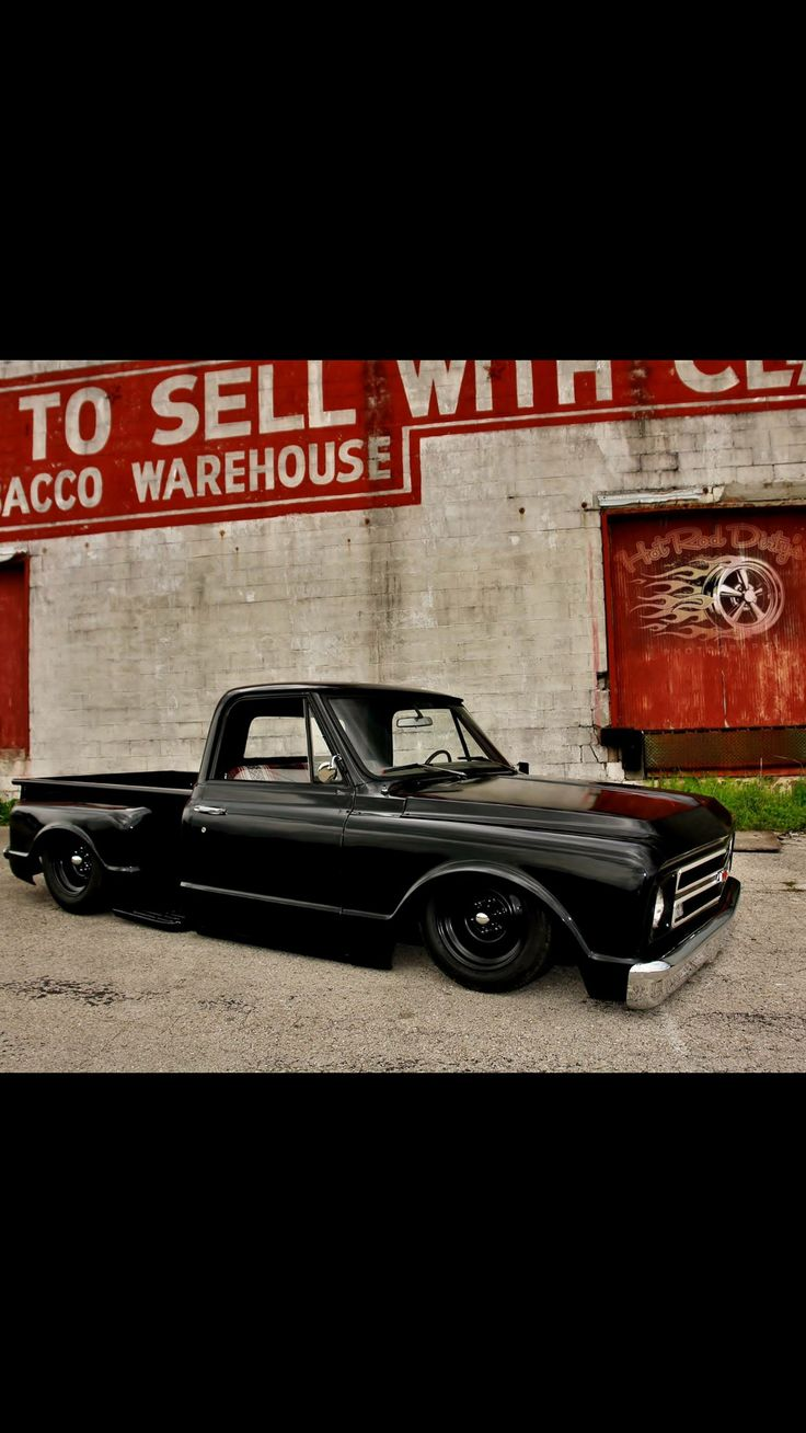 Chevy c 10 stepside bagged truckslowered