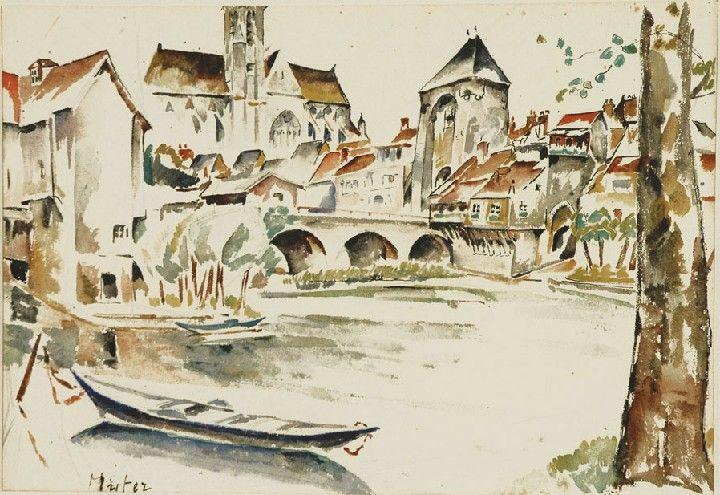 Mela Muter: Pejzaż miejski z rzeką