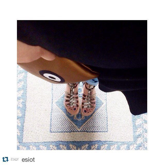 Our bronze clutch bag matches perfect with ESIOT sandals! Happy summer  Happy summer  #Repost @esiot with @repostapp. ・・・ Repost from @marianikop for the album .You are ESIOT™ #livada #mirror #esiot #esiotsandals #greeksandals #madeingreece #espadrilles #creepers #gladiators. #handmadebagschristinamalle l#summercollection#madeingreece#greekdesigners#greekbloggers#evileye#summer#fashion#style#bag