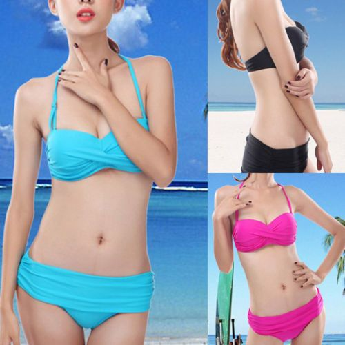 Women's Sexy Bikini Push-up Padded Bra Swimsuit Bathing Suit Set for Size S-L