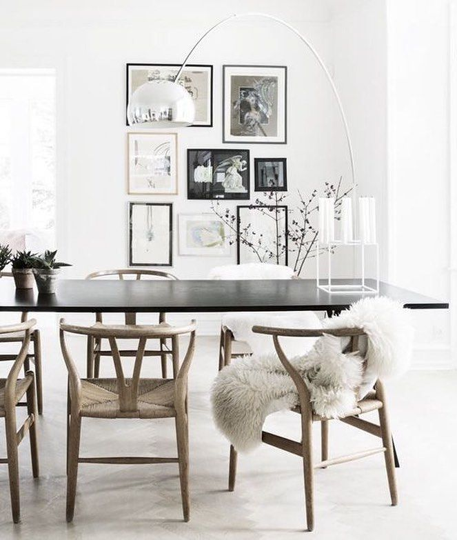 Wishbone Chair By Hans J Wegner From Carl Hansen Sn And Kubus Candle Holder Dining AreaDining TablesKitchen