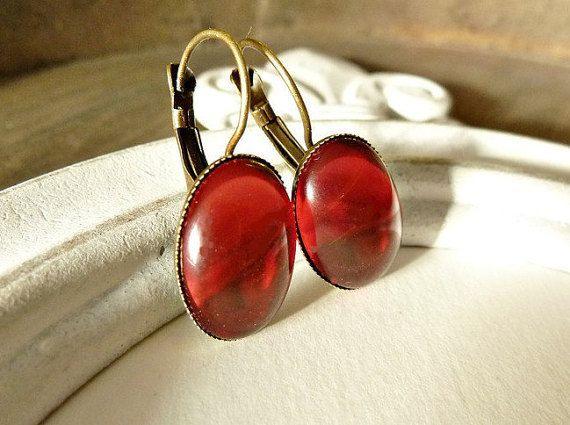 Ohrringe Fuchsia/ Helles Rot