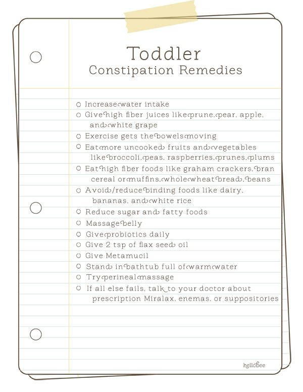 toddler constipation remedies ...I know this seems weird to post but one of my little guys had this problem today and I had no ideas of how to help him :(