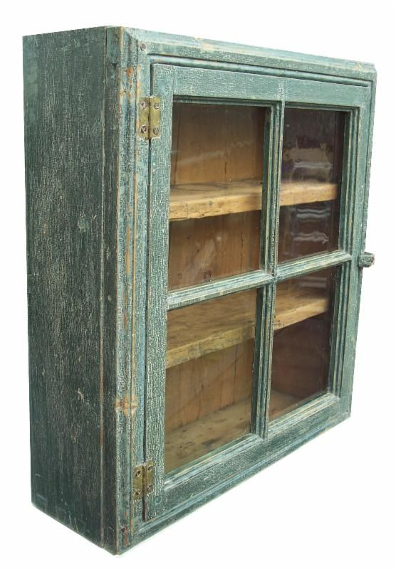 Blue hanging cupboard from Country Treasures - 105 Best Antique Painted Hanging Cupboards Images On Pinterest