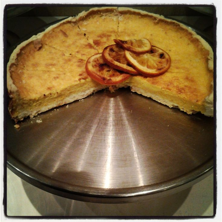 Double baked orange and organic marscapone tart from gingko baked by Terica