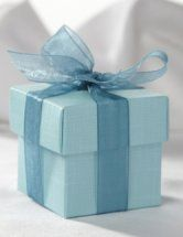 SAMPLE Turquoise Square Favour Box & Lid